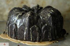 mocha zucchini coconut cake with coffee glaze