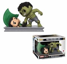 This Funko Pop! features an iconic scene from the first Avengers movie - Hulk smashing Loki! This specific item is a Walgreens exclusive Funko Pop! Funko Pop Marvel, Loki Funko Pop, Marvel Avengers Movies, Loki Marvel, Loki Avengers, Marvel Pop Vinyl, Marvel Comics, Avengers 2012, Thanos Marvel