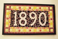 Items similar to Custom Mosaic House Numbers on Etsy Mosaic Crafts, Mosaic Art, Mosaic Glass, Mosaic Tiles, House Numerology, Numerology Numbers, House Address, Mosaic Designs, Stained Glass Patterns