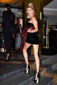 Hailey Baldwin - Arriving for the Dior Dinner in Cannes - Cute Outfits Estilo Hailey Baldwin, Haley Baldwin, Stephen Baldwin, Hailey Baldwin Style, Tucson, Overall, Hot Pants, Beautiful Legs, Mannequin