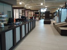 A Tale Of Three Montreal Showrooms Commercial Flooring, Montreal, Showroom, Floors, Improve Yourself, Restaurants, Tile, Retail, Trends