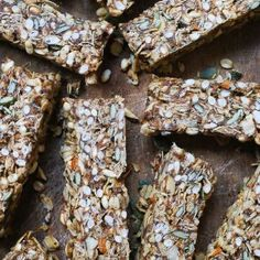 The Best Granola Bars are gluten-free and vegan with no refined sugar and plenty of energy boosting ingredients, plus they are super tasty. Gluten Free Cakes, Gluten Free Recipes, Best Granola Bars, Chicken And Leek Pie, Ginger Slice, Puffed Rice, Raw Almonds, Baking Tins, Food Themes