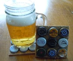 Fathers Day gift idea: beer cap coasters