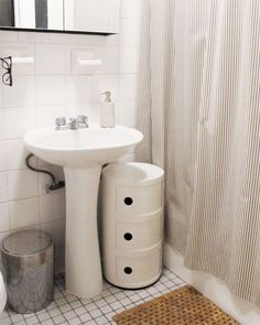Decorating With Roommates. Small StorageExtra StorageStorage BinsStorage  IdeasPedestal Sink ...