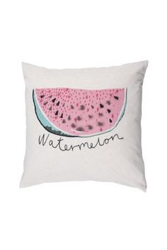 Watermelon Pillow by Soft Gallery - I love the pastel colouring and simplicity of the design. Could use this to match the 'cute' medium planner with watermelon patterns on it.