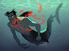 Embedded Long Exposure Comic, Mermaids And Mermen, Guy Drawing, Merfolk, Adventure Time Anime, Manhwa, Boy Art, Cute Gay, Character Design Inspiration