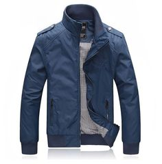 2015 Hot Brand Man Jacket Sportswear College Mens Polo Jackets And Coats Men Windcheater Military Clothes Fashion Clothing Big Men Fashion, Military Fashion, Fashion Brand, Mode Man, Polo Jackets, Shop Jackets, Casual Outfits, Men Casual, Mens Casual Jackets