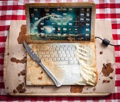 deep-fried gadgets by henry hargreaves   designboom
