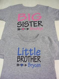 373e0a608 Aren't these just the sweetest little sibling shirts you've ever seen?