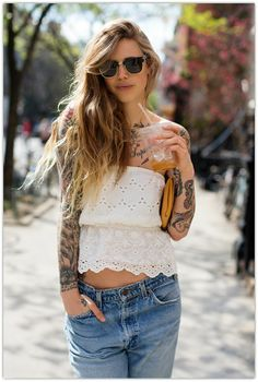 I don't even know if her style or her tattoos are cooler :)