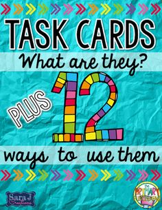 Some great ideas for how to use task cards plus a free sample for you to try it out yourself!