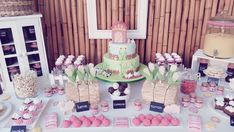 Fun dessert table at a farm birthday party! See more party planning ideas at CatchMyParty.com!