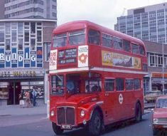 Croydon Surrey England in July 1981 Thornton Heath, Croydon London, Routemaster, Double Decker Bus, Bus Coach, London Bus, London Transport, Crystal Palace, England Uk