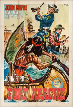 "Movie Posters:Western, Fort Apache (RKO, R-1960s). Italian 4 - Foglio (55"" X 78"").Western.. ... Image #1"