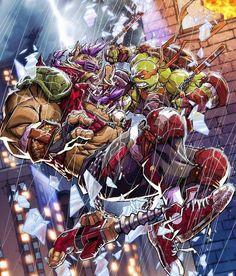 Ninja Turtles Art, Teenage Mutant Ninja Turtles, Ninja Turtle Drawing, Geeky Wallpaper, Bebop And Rocksteady, Tmnt Mikey, Medvedeva, The Villain, Cool Art