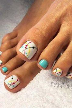 connect the dots toenails #Pedicure