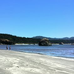 The beach at Port Orford on the Oregon Coast.