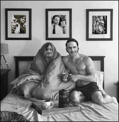 These two are a hot mess lol -Norman Reedus and Andrew Lincoln - TWD