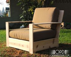 DIY plans for modern patio furniture