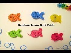 How to make Rainbow Loom Gold Fish Charms - YouTube