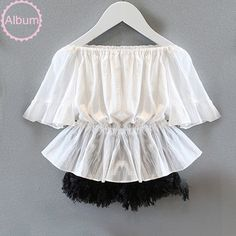 2016 Summer strapless blouse for baby girls white flounce off shoulder top Kids slash neck cotton blouse Summer clothes 2 8 Ys-in Blouses & Shirts from Mother & Kids on Aliexpress.com | Alibaba Group