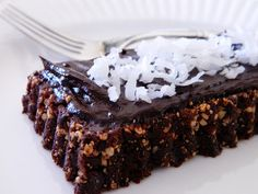 raw brownies with frosting. Try it. It's amazing and super easy (with a food processor.)