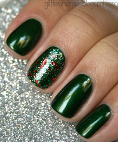 Glitter and Nails: China Glaze Jolly Holly + Party Hearty