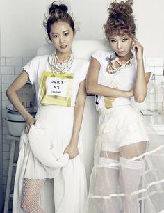 4Minute's Gayoon and Hyuna // CeCi Korea // June 2013