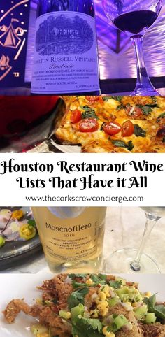 Houston Restaurant Wine lists that are affordable, have variety and have great food.