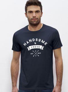 James - Herren T-Shirt mit Rundhals-Ausschnitt