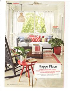 Vibrant colors and comfy, durable furniture can turn any porch into a favorite hangout. | Better Homes and Gardens