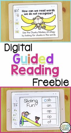 Would you like a digital guided reading freebie? This includes reading strategy anchor charts, word work activities, sight word activities, assessments and more! This is for level B, so it can be used with your kindergarten or first grade reading groups. Guided Reading Activities, Sight Word Activities, Reading Fluency, Reading Lessons, Reading Strategies, Reading Groups, Reading Resources, Kindergarten Freebies, Teacher Freebies