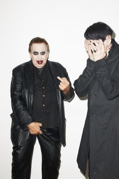 Marilyn Manson and his father have a hilarious photo shoot with photographer Terry Richardson.