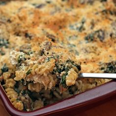 Martha Stewart's Chicken and Kale Casserole Recipe - definitely sub who wheat pasta, or maybe spaghetti squash or broccoli slaw and see how it goes