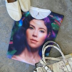 American Apparel Sublimation T Marina Sz S oversized Sublimation T from AA. Marina and the Diamonds. Oversized fit. American Apparel Tops Tees - Short Sleeve