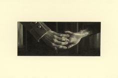 Marie Harnett, Hands (from Karenina), pencil drawing on paper, 10 x 15 cm.
