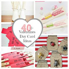 40 Valentine's Day Cards and Gift Ideas-The Crafted Sparrow #valentine #valentines gift #valentine craft