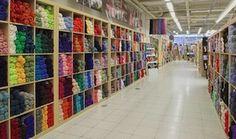 Nordia Lankamaailma, a huge yarn store in Oulunkylä Helsinki