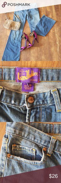 Landlubber flare jean Great fitting landlubber flare jean. Medium blue wash with grinding on the pockets. landlubber Jeans Flare & Wide Leg