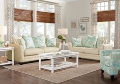 Coastal Grove Khaki 3 Pc Living Room  . $999.99.  Find affordable Living Room Sets for your home that will complement the rest of your furniture. #iSofa #roomstogo