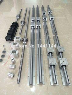 Купить товар6 sets линейной направляющей SBR20 400/1000/1500 мм + SFU1605 400/1000/1500 мм швп 3 BK12/BK12 + 3 Гайка корпус + 3 Муфта для чпу в категории Линейные направляющиена AliExpress. количество:2 шт. SBR20-400 мм линейный рельс2 шт. SBR20-1000 мм линейный рельс2 шт. SBR20-1500 мм линейный рельс12 шт.