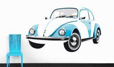 Wall Decal-Blue Beetle  #VW #bus #Volkswagen #coolvwstuff
