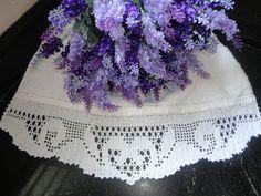 Toca do tricot e crochet: Barrado de toalha de lavabo III !!!