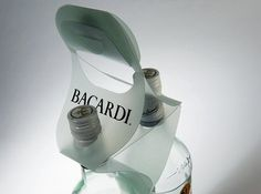 Bacardi Polypropylene Holder - a creative packaging solution produced by Cedar Packaging