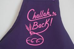 Challah Back Apron Purple and Hot Pink by WhatJewWannaEat on Etsy