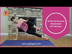 20-Minute No Excuses Bodyweight HIIT Workout - YouTube
