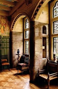 The Interior Of Jimmy Page S Tower House In Kensington