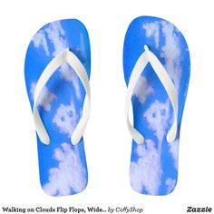 Walking on Clouds Flip Flops, Wide Straps