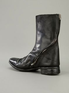 Carol Christian Poell Unlined Diagonal Zip Goodyear Boots