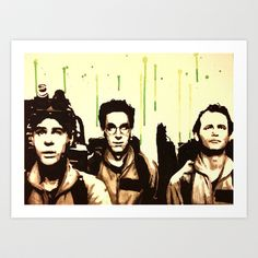 Ghostbusters watercolor Art Print by justinart13 - $17.68